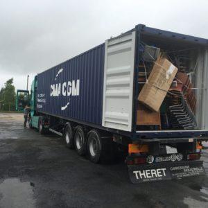Container bien rempli !