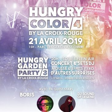 Inscription Hungry Color et Hungry Garden Party – Saint-Omer – 2019